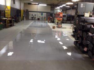 Industrial floor after resurfacing
