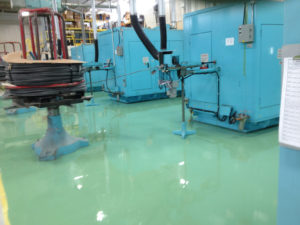 An Industrial floor after refinishing by Northern Industrial Flooring