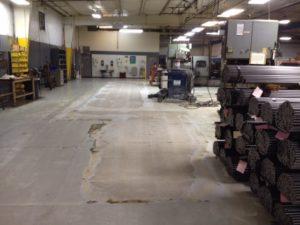 Industrial Floor painting before