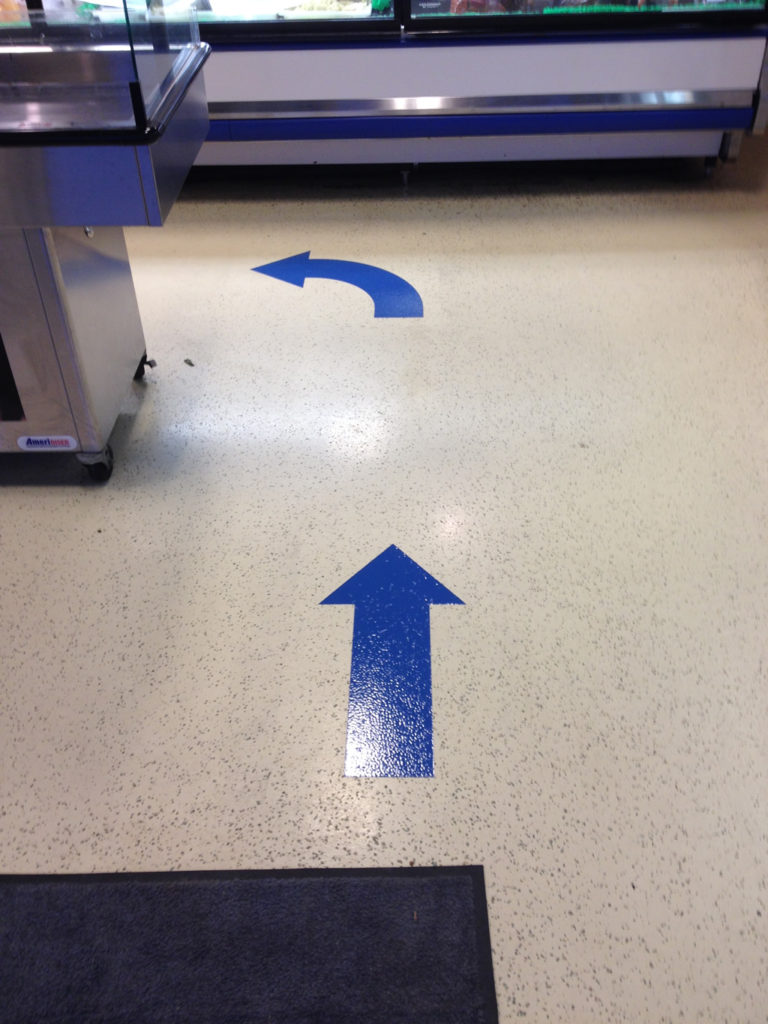 Painted Floor Graphics